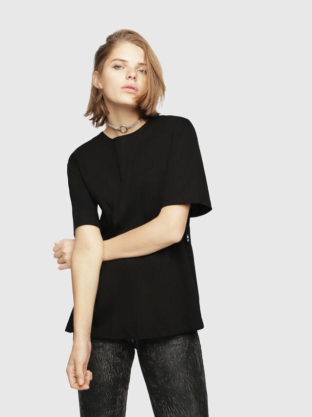 Diesel - T-FATIN-A, Black - T-Shirts - Image 1