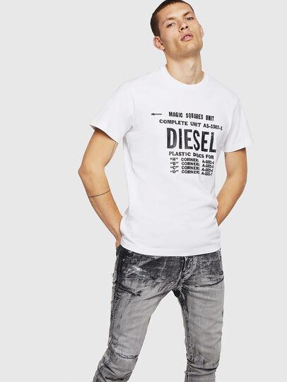 Diesel - T-DIEGO-B6, White - T-Shirts - Image 4