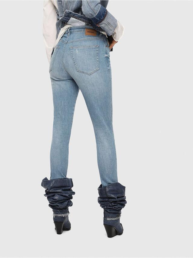Diesel - Babhila High 081AF, Light Blue - Jeans - Image 2