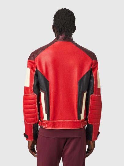 Diesel - L-TEAM, Red/Black - Leather jackets - Image 2