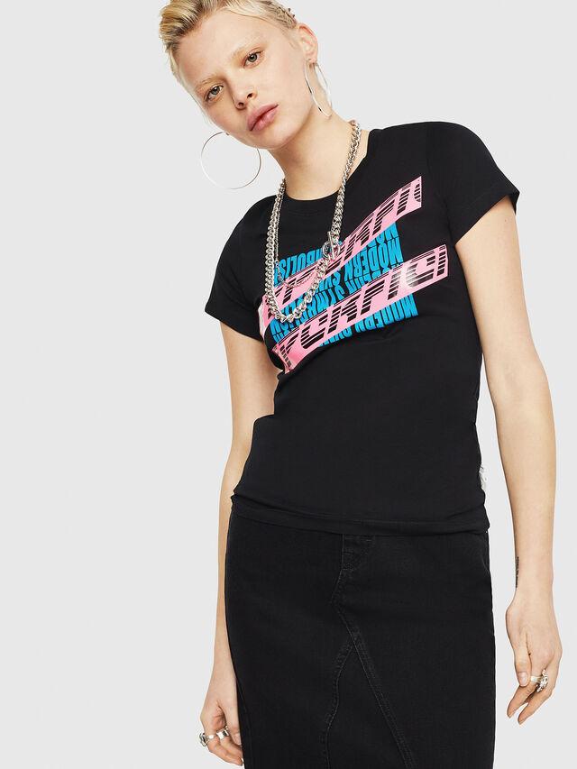 Diesel - T-SUPERY-C, Black - T-Shirts - Image 1