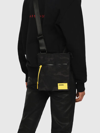 Diesel - F-DISCOVER CROSS, Black/Yellow - Crossbody Bags - Image 5