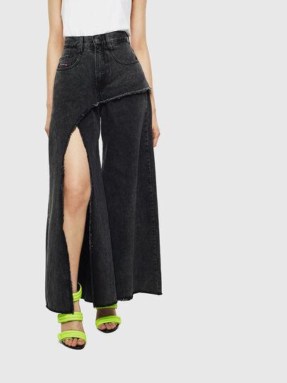 Diesel - D-Izzier 0KAXA, Black/Dark grey - Jeans - Image 1