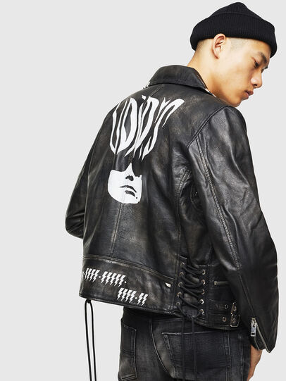 Diesel - L-GOTIV-A, Black - Leather jackets - Image 2