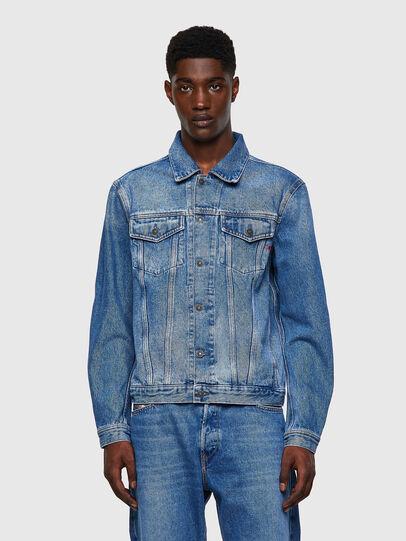 Diesel - D-SAL, Light Blue - Denim Jackets - Image 1