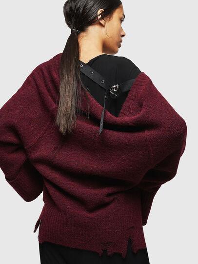 Diesel - M-MARIKAX, Burgundy - Knitwear - Image 2