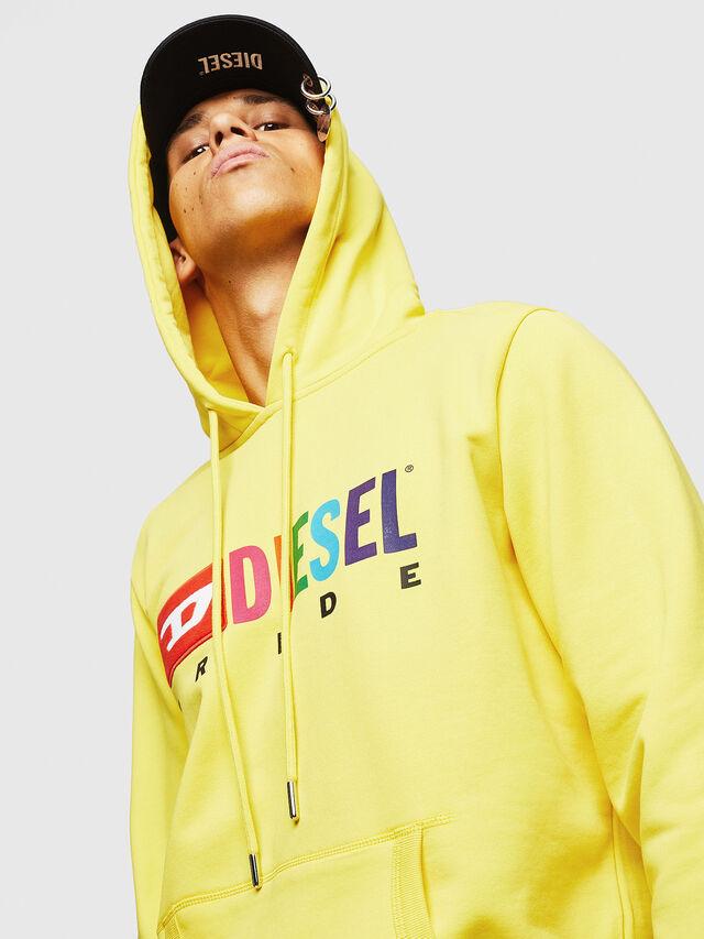 Diesel - S-GIR-HOOD, Yellow - Sweaters - Image 5