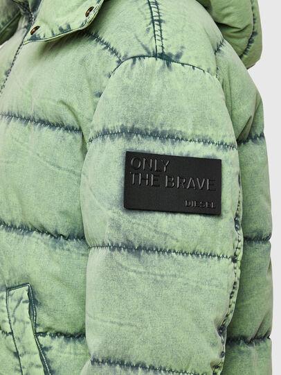 Diesel - W-EVACID, Green Fluo - Winter Jackets - Image 4