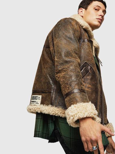 Diesel - L-BALASOVI, Brown - Leather jackets - Image 5