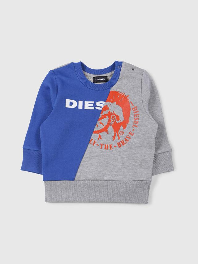 Diesel - SVETTEB, Grey/Blue - Sweaters - Image 1