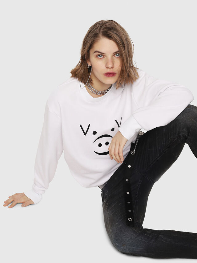 Diesel - CL-SNOR, White - Sweaters - Image 6