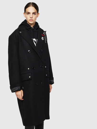Diesel - W-MALIN, Black - Winter Jackets - Image 1