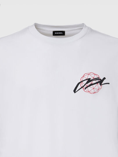 Diesel - T-JUST-LS-X92, White - T-Shirts - Image 3