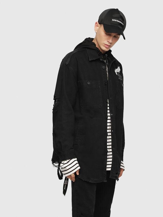 Diesel - D-LOREN, Black - Denim Jackets - Image 2