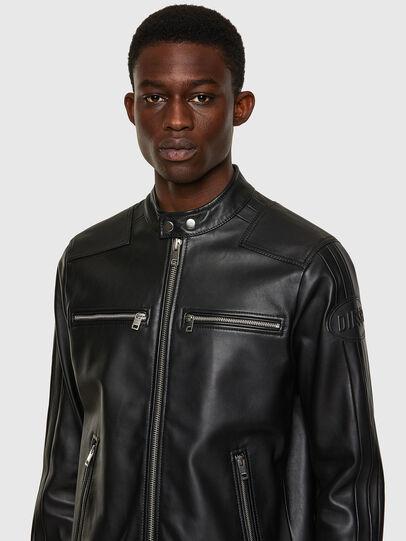 Diesel - L-BOY, Black - Leather jackets - Image 4