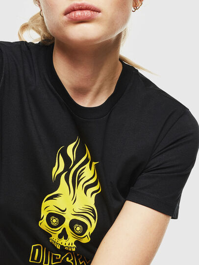 Diesel - T-SILY-WQ, Black/Yellow - T-Shirts - Image 3