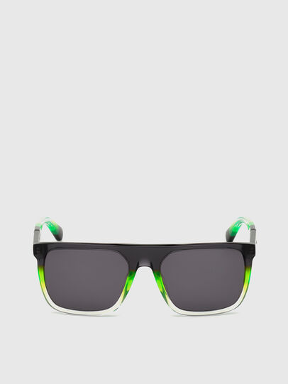 Diesel - DL0299, Black/Green - Sunglasses - Image 1