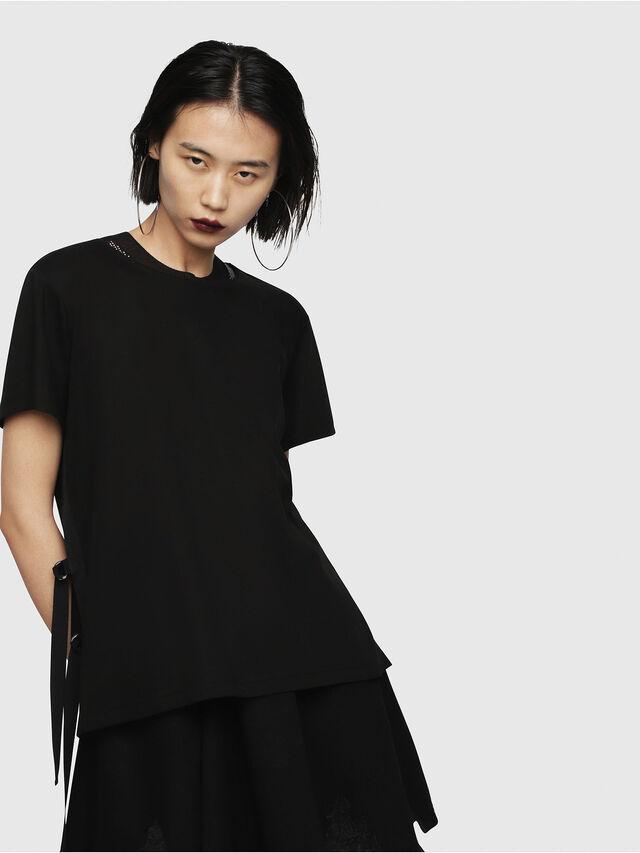 Diesel - T-FLEURIS-A, Black - T-Shirts - Image 1