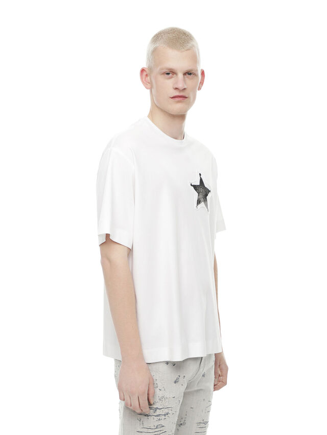 Diesel - TEORIAL-SHERIFF, White - T-Shirts - Image 3