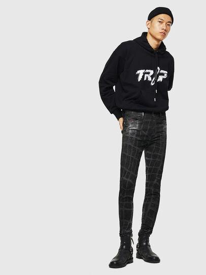 Diesel - D-Reeft JoggJeans 0094M, Black/Dark grey - Jeans - Image 7