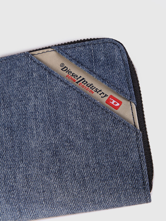 Diesel - 24 ZIP, Blue Jeans - Zip-Round Wallets - Image 3