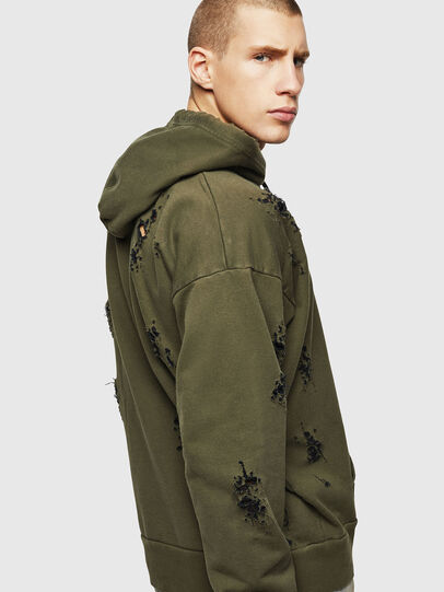 Diesel - S-ALBY-RIP, Military Green - Sweaters - Image 5