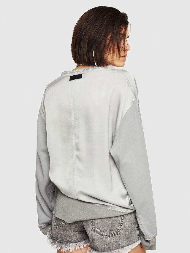 Diesel - F-EVIE, Light Grey - Sweaters - Image 2