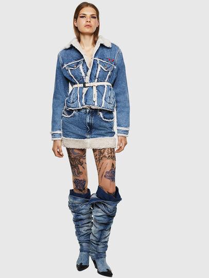 Diesel - DE-TILDRA, Medium blue - Skirts - Image 6