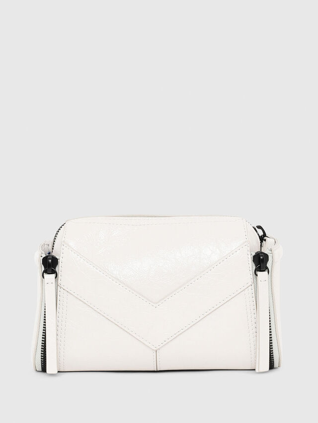 Diesel - LE-ZIPPER CROSSBODY, White - Crossbody Bags - Image 2