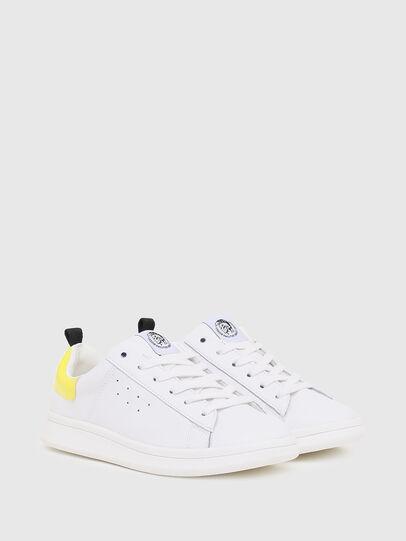Diesel - SN LOW LACE 11 FULL, White/Yellow - Footwear - Image 2