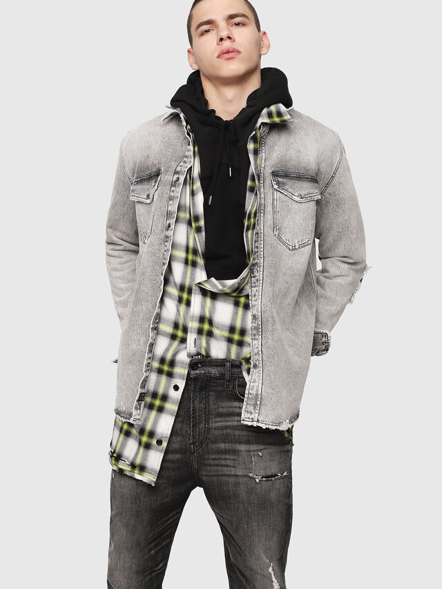 Diesel - D-Vider JoggJeans 0077S, Black/Dark grey - Jeans - Image 5