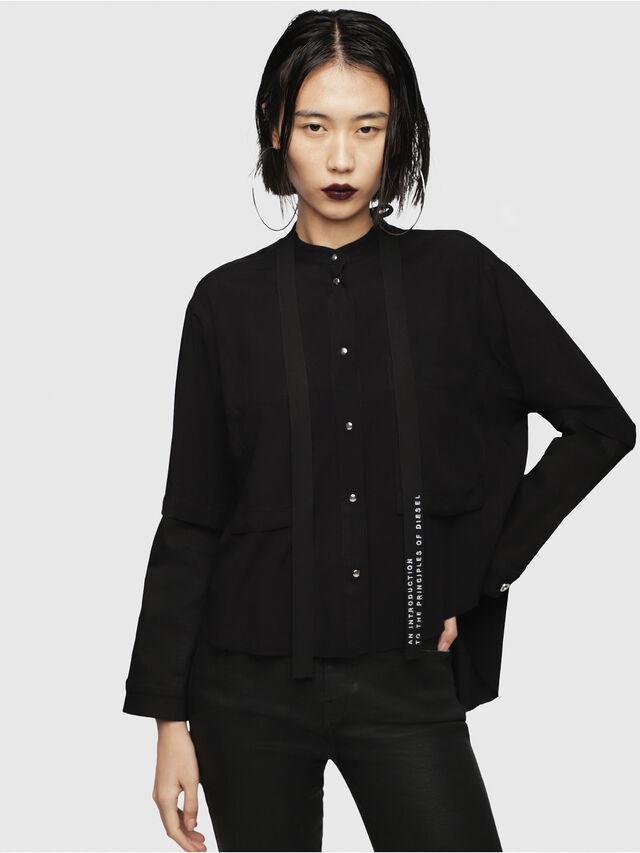 Diesel - C-NAMIE, Black - Shirts - Image 1