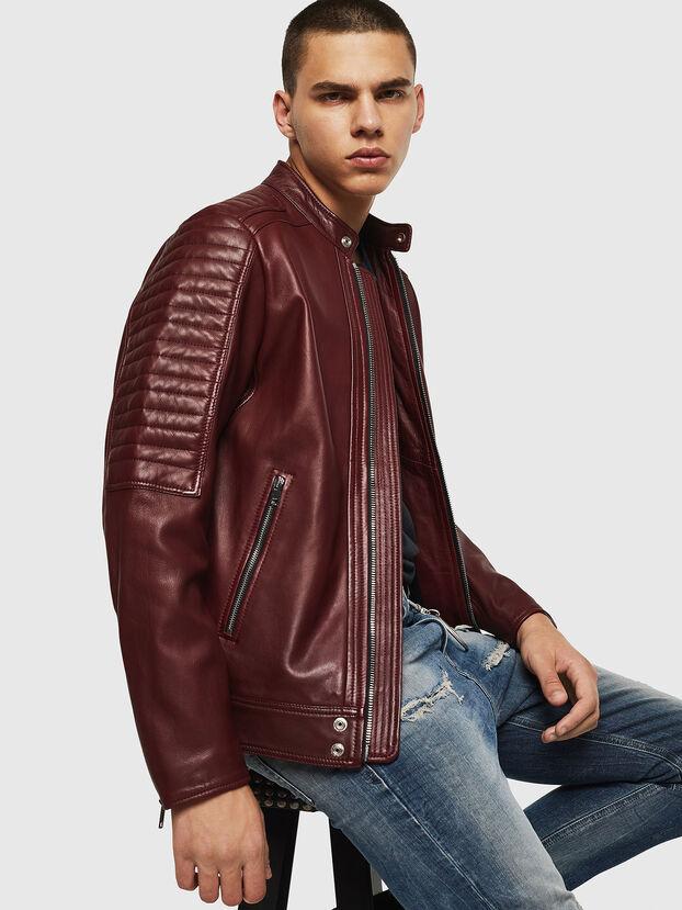 L-SHIRO, Bordeaux - Leather jackets