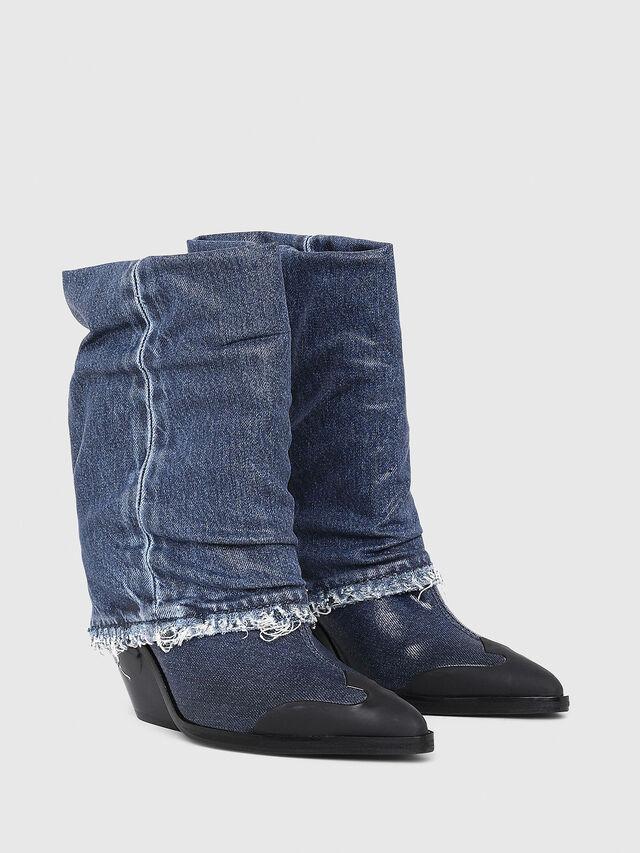 Diesel - D-WEST MB, Blue Jeans - Ankle Boots - Image 2