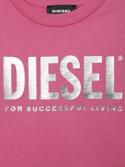 Diesel - TJUSTLOGOB-FL MC-R, Pink - T-shirts and Tops - Image 3