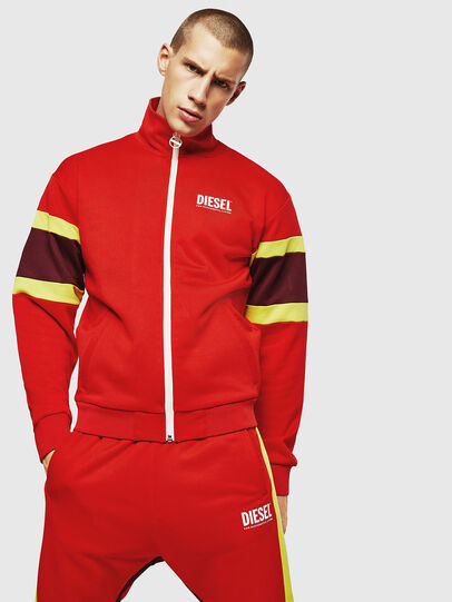 Diesel - S-AKON, Fire Red - Sweaters - Image 1