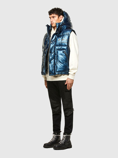 Diesel - W-SELLERS, Blue - Winter Jackets - Image 6