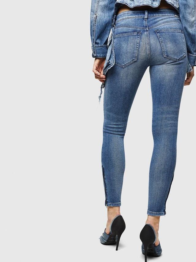 Diesel - Slandy Zip 083AP, Medium blue - Jeans - Image 2