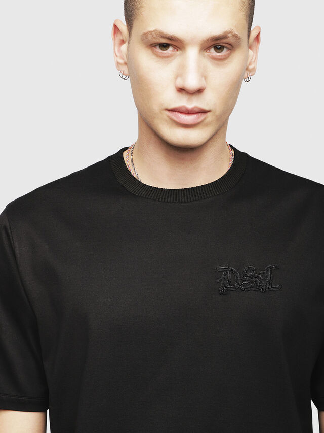 Diesel - T-JUST-XMAS, Black - T-Shirts - Image 3