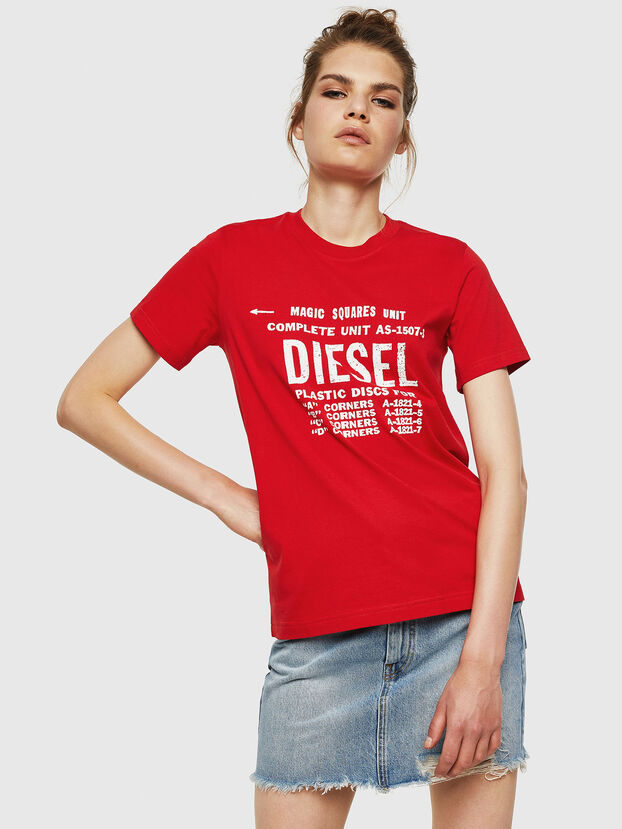 T-SILY-ZF, Fire Red - T-Shirts