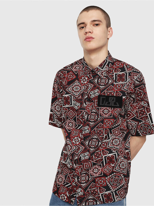 Diesel - S-FRY-NP, Red/Black - Shirts - Image 1