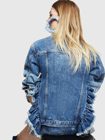 Diesel - DE-ABBY, Medium blue - Denim Jackets - Image 2