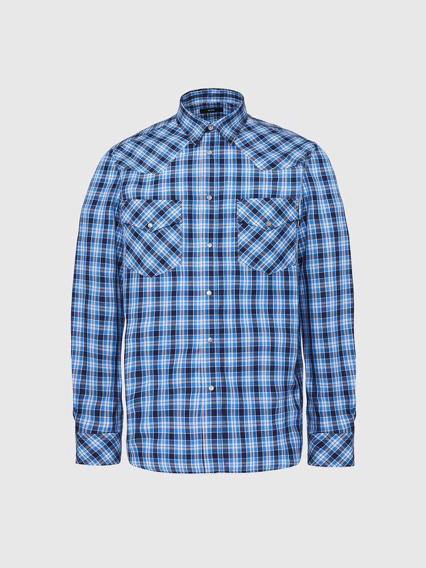 S-EAST-LONG-O, Blue/White - Shirts