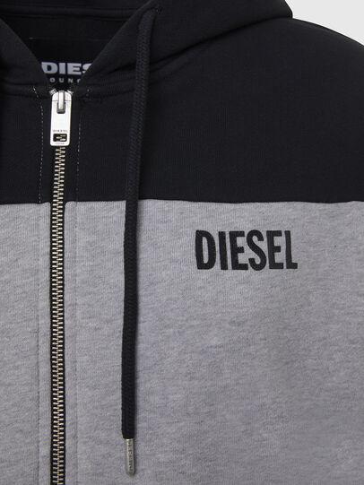 Diesel - UFLT-PHYLOSH-HOOD, Gray/Black - Sweaters - Image 3
