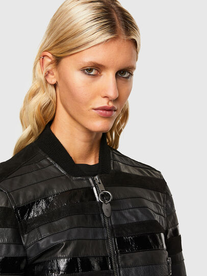 Diesel - L-WALL, Black - Leather jackets - Image 3