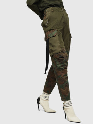 P-THENA-A, Green Camouflage - Pants