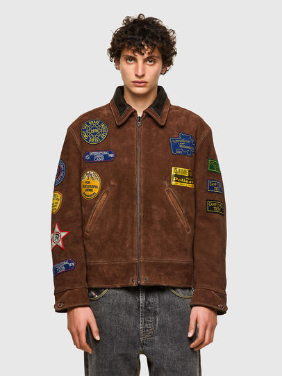 Diesel - DxD-3, Brown - Leather jackets - Image 2