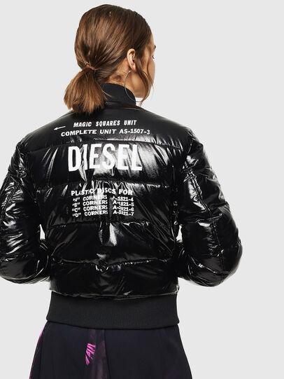 Diesel - W-ONY, Black - Winter Jackets - Image 2