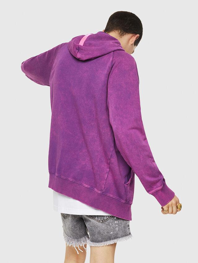 Diesel - S-GIM-HOOD-ZIP, Violet - Sweaters - Image 2