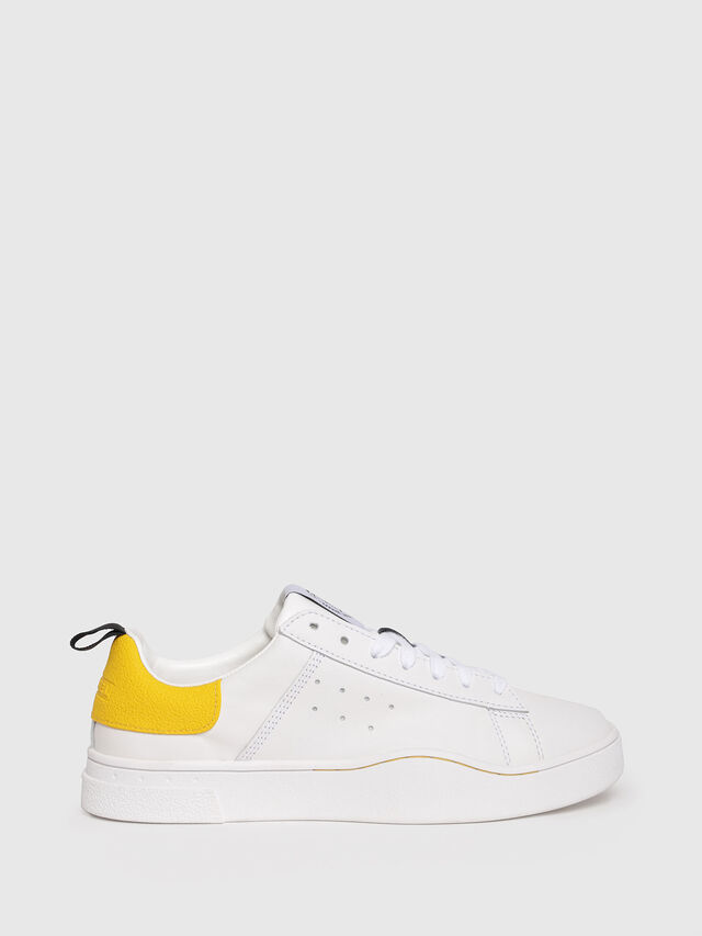 Diesel - S-CLEVER LOW W, White/Yellow - Sneakers - Image 1